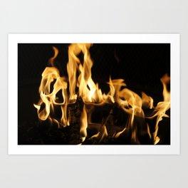 Summer Fire Art Print