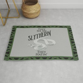 They See Me Slytherin Rug