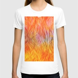 Crumpled Paper Textures Colorful P 39 T-shirt