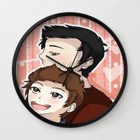 sterek Wall Clocks featuring Sterek #2 by liloloveyou024