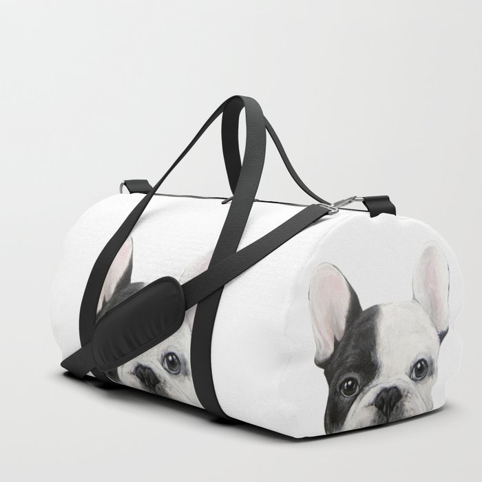 French Bulldog Dog illustration original painting print Duffle Bag
