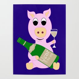 Happy New Year 2019 Year Of The Pig Gift Poster