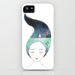 Dreaming about traveling the world iPhone Case