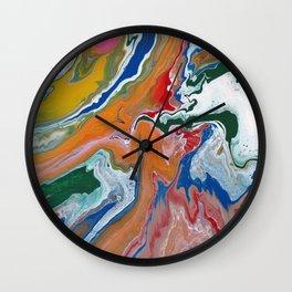 Melting Rainbow I Wall Clock