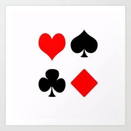 poker card figures Art Print
