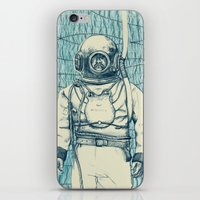 diver iPhone & iPod Skins featuring Diver by Alli Coate
