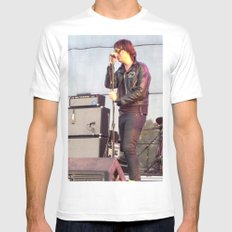 Julian C. - The Strokes Mens Fitted Tee MEDIUM White