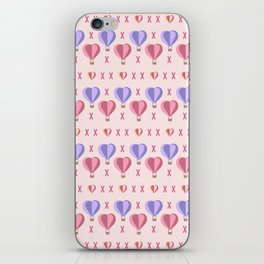 Heart Air Balloon - Girly - Love Hearts iPhone Skin
