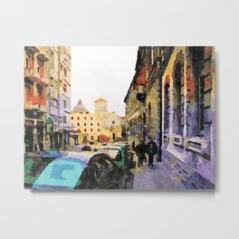 Catanzaro: course with cathedral Metal Print