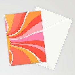 Sunshine Swirl – Pink & Peach Palette Stationery Cards