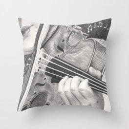 The Note Waltz Throw Pillow