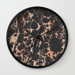 Marble Black Rose Gold - DNA Wall Clock