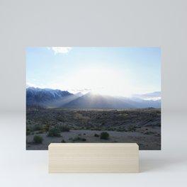 Alabama Hills at Sunset Mini Art Print
