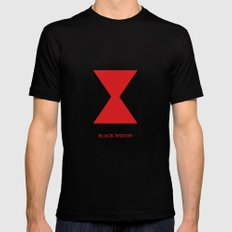 Black Widow MEDIUM Black Mens Fitted Tee