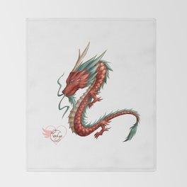 Dragon pure Throw Blanket