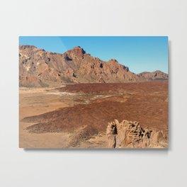 desert volcanic landscape Metal Print