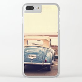 Beach Bum Vintage Car Clear iPhone Case