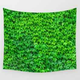 Deep Green Ivy Wall. Wall Tapestry