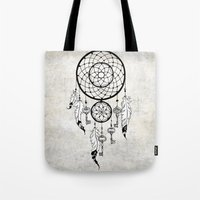 dreamcatcher Tote Bags featuring Dreamcatcher by Nora Bisi