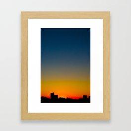 The Body Sunset Framed Art Print