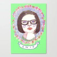 ghost world Canvas Prints featuring Ghost World by EmilyScribbles