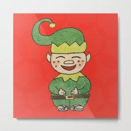 Elf with Jandals Metal Print