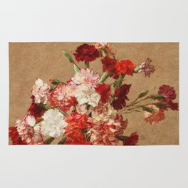Henri Fantin Latour - Carnations Without Vase Rug