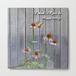 Cone Flowers - Happy Metal Print