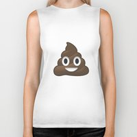 poop Biker Tanks featuring Whatsapp - Poop by swiftstore
