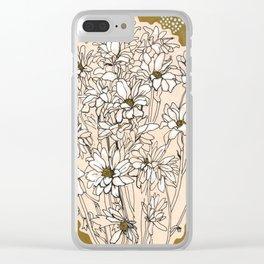 Chrysanthemum, ink sketch Clear iPhone Case