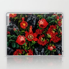 Panther and Floral Pattern XO Laptop & iPad Skin