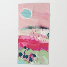 spring dream landscape Beach Towel