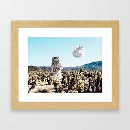 Collage, Astronaut, Desert, Moon, Creative, Nature, Modern, Trendy, Wall art Framed Art Print