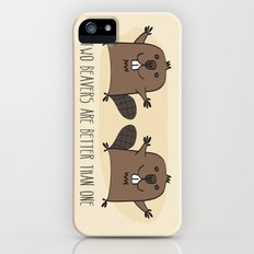 Two Beavers Are Better Than One iPhone (5, 5s) Slim Case