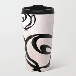 Flowers, Mother-Daughter, Pink Travel Mug