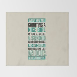 Lab No. 4 When You Are Courting Albert Einstein Famous Life Inspirational Quotes Throw Blanket