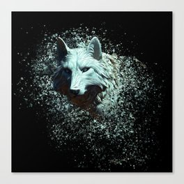 Of The White Wolf Canvas Print