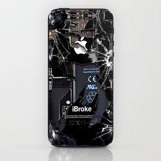 Broken, rupture, damaged, cracked black apple iPhone 4 5 5s 5c, ipad, pillow case and tshirt iPhone & iPod Skin
