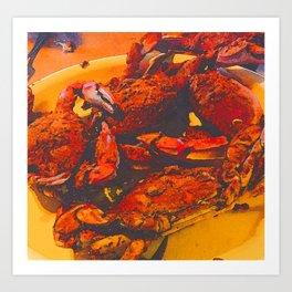Maryland Crab Season Art Print