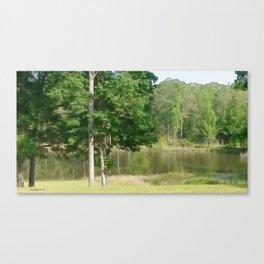 Wimborne Lake Canvas Print
