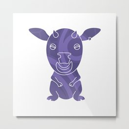 Tiki Cow Metal Print