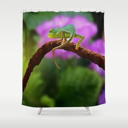 Floral Baby Chameleon Shower Curtain