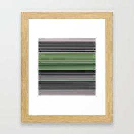 Olive green and grey Framed Art Print