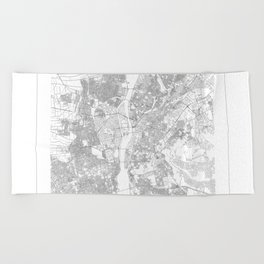 Cairo Map 2 Beach Towel