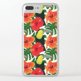 Toucan pattern Clear iPhone Case