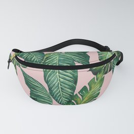 Jungle Leaves, Banana, Monstera II Pink #society6 Fanny Pack