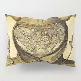 Fool's Cap Map of the World Pillow Sham
