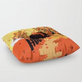 Autumn Girl Floor Pillow