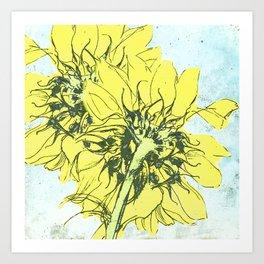 Sunflowers v2 Art Print
