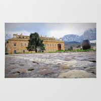 castle Area & Throw Rugs featuring castle by  Agostino Lo Coco